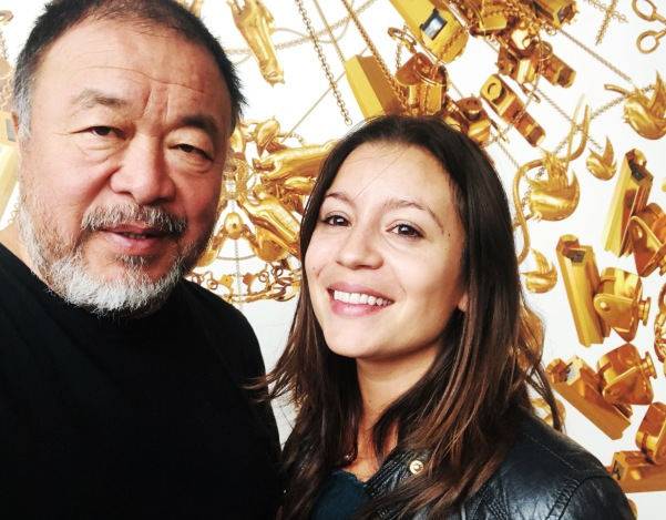 The Art Minion gets a selfie with Ai Weiwei