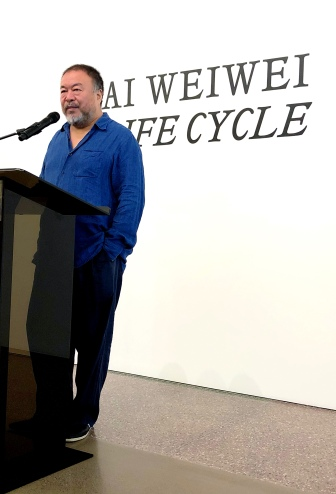 Ai Weiwei greeting press at MAF